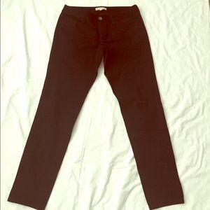 Banana Republic Sloan Fit Black Pants 8 Long